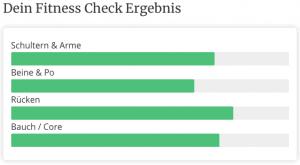 pregfit Fitness Check Ergebnis
