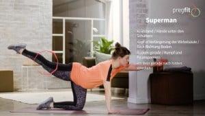 Workout Schwangerschaft Übungsvideo von pregfit online Fitness für Schwangere